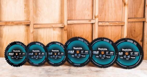 La línea de accesorios de eficiencia Makita MAX se expande con las hojas de trabajo de madera